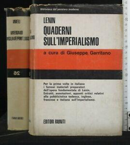 QUADERNI SULL'IMPERIALISMO. Lenin. Editori Riuniti.