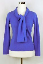 Petite Sophisticate 100% Merino Wool V-Neck Sweater & Button on Scarf Size Small