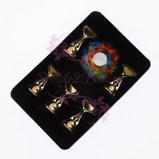 Crystal Base Magnetic Holder Alloy Stand Display Nail Art Salon Manicure Tool