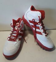 NEW Adidas Turf Hog LX Mid White/Red Football Cleats  C76463