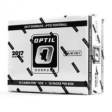 2017 Panini Donruss Optic Football Jumbo 12-Pack Box