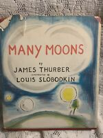 1st Edition OF Many Moons By James Thurber With Dust Jacket
