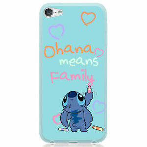 For iPod Touch 6 7 6th 7th Generation TPU Cover Case Stitch Crayon