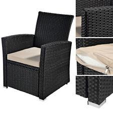 Rattanstuhl Stuhl Sessel Poly Rattan Schwarz Korbstuhl Gartenstuhl Terrasse