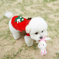 Pet Cat Dog Puppy Christmas Xmas Santa Costume Apparel Jumper Hoodie Coat Outfit