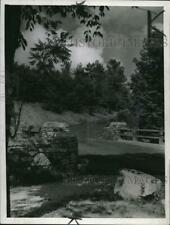 1939 Press Photo The Blue Stone Quarry in Euclid Reservation