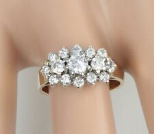 Vintage 18Ct Gold And Diamond Cluster Ring , 1.00 Carat In Total