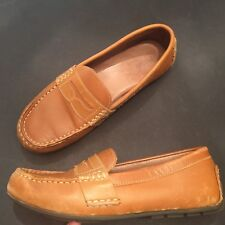POLO RALPH LAUREN Tan Leather Penny LOAFERS DRIVING MOCCASINS SHOES  M 6 W 8