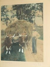 """Wallace Nutting """"THE LAST LOAD"""" Hand Colored Photo Titled SIGNED BY COLORIST"""