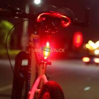 Eclairage Velo Rechargeable lampe LED rouge Feu Arriere Vtt Avertissement Flash