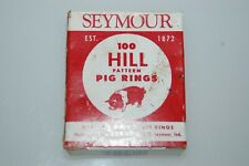 Vintage full Box of Seymour Model Hm Hill Pattern Hog / Pig Nose Rings