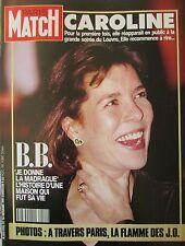 PARIS MATCH de 1991 CAROLINE MONACO GERE CRAWFORD BRIGITTE BARDOT CROATE VUKOVAR