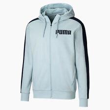 Puma Men's Contrast Full Zip Hoodie Blue XXL