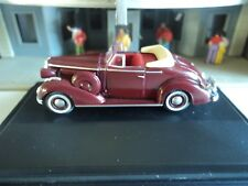 Oxford  1936  BUICK SPECIAL CONVERTIBLE  Maroon  1/87  HO  diecast car  GM NEW