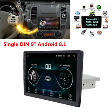 "9"" Android 8.1 1DIN 1080P Touch Screen Car Stereo Radio GPS Wifi Mirror Link OBD"