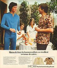 Publicité Advertising  1966  HOM  pyjama pour homme slip lingerie
