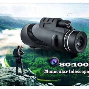 80x100 HD Monoculaire Optic Télescope zoom jumelles vision nocturne 1500m 9500m