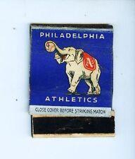 1940 Philadelphia A's baseball empty matchbook schedule