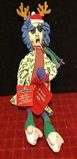 Holiday Christmas Hallmark Maxine Shelf Sitter Doll Comic Strip Old Lady Decor