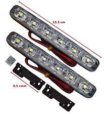 UNIVERSAL LED DRL LIGHTS DAYTIME RUNNING LIGHTS FOG COB WATERPROOF 6LED-OPL2