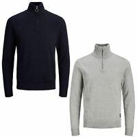 Jack & Jones Mens Jumper High Neck Long Sleeve Casual Plain Pullover Sweater Top