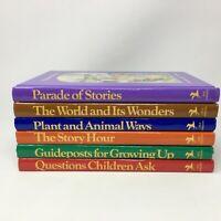 (6) Vintage CHILD HORIZONS Hardcover Books Christian Homeschool Education