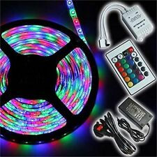 10m Waterproof 600 LED 3528 RGB SMD Strip Light Remote Controller Adapter 12v