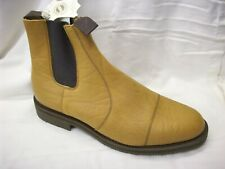 SOLOVAIR SIZE 13 TAN MUSTANG LEATHER BRITISH SLIP ON RAMBLER SOLE DEALER BOOTS
