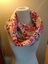 Pink, red hearts, flannel Infinity Scarf, kiss, Valentine's Day, gift, love