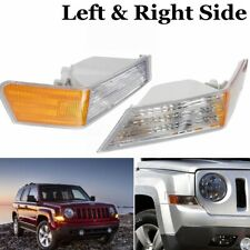 Pair LH+RH Parking Light Turn Signal Lamp Cover For Jeep Patriot MK74 2007-2014