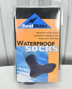 "NEW SEALSKINZ Waterproof Breathable Socks Size Large 11"" All Season"