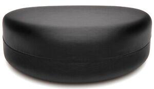 NEW Large Clam Shell Hard Black Case for Sunglasses Eyeglasses w/ Cloth C12