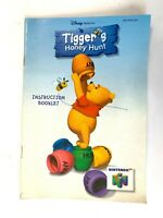 Tigger's Honey Hunt N64 Nintendo 64 Instruction Booklet Manual Book Only