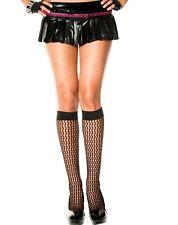 Knee High Crochet Fishnet Style Stockings Goth Halloween Black Trouser Socks