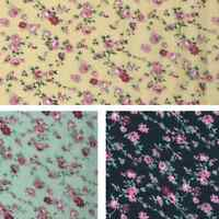 Weaving Rose Vines Floral Flowers 100% Viscose Print Fabric 140cm Wide