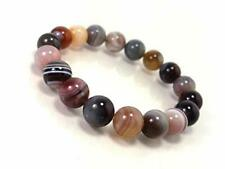 Round Beads Bracelet Size 7.5 Inches Natural Botswana Agate Gemstone 6 Mm Loose