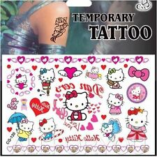 NEW 1 x Temporary Tattoo Sheet Kids Birthday Party Bag Filler For Hello Kitty