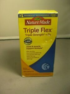 NATURE MADE Triple Flex, Triple Strength + D3, Caplets, 120.0 CT bbd 6/2022 +