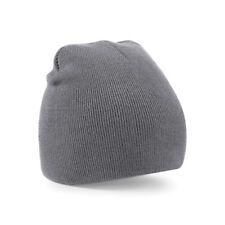 fd3d976f70c Beechfield Acrylic Knitted Beanie Bb44 Graphite Grey