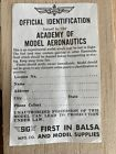 OFFICIAL IDENTIFICATION ISSURED BY THE ACADEMY OF MODEL AERONAUTICS SIG MFG. CO.