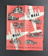 WEST AFRICAN AIRWAYS WAAC TIMETABLE APRIL 1958 VISCOUNT STRATOCRUISER DC-3 HERON