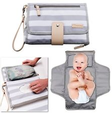 Portable Changing Pad Baby Diaper Station | Newborn Clutch Bag Travel Kit | Bpa