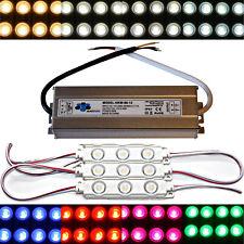 50x módulos LED + 80 vatios de alimentación - 12v 5730 chip blanco cálido frío blanco inyección