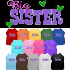 Big Sister Screen Print Pet Puppy Cat Dog Shirt