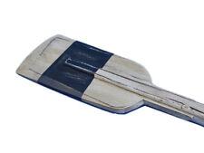 """Rowing Boat Oar Driftwood White & Light Blue 50"""" Wood w/ Hooks Tropical Decor"""