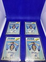 Lot Of Four (4) BRUCE SUTTER ROOKIE TOPPS 1977 CHICAGO CUBS RC BASEBALL CARD RAW