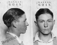 Photograph Vintage Mugshot Mobster Clyde Chestnut Barrow  in 1926 Age 16