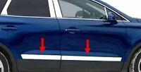 """2015-2020 Lincoln MKC Flat Lower Body Side Molding Trim Stainless 4Pc 2 1/2"""""""