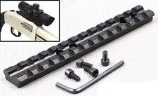 "Tactical 5.5"" Picatinny Weaver 20mm Rail Scope Mount 13 Slots Rifle Shotgun D21"