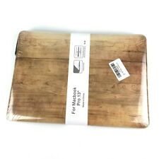 "MacBook Pro 13"" Faux Wooden Wood Grain Case Cover NEW"